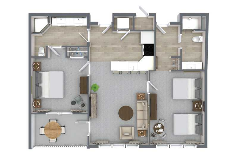 2 Bedroom Suite with Kitchen